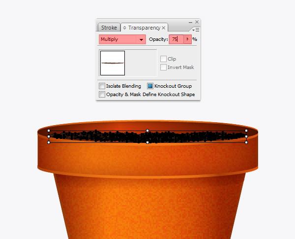 Create a flowerpot from scratch in  Adobe Illustrator 19