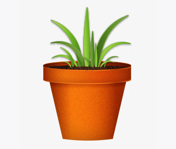Create a flowerpot from scratch in  Adobe Illustrator 30