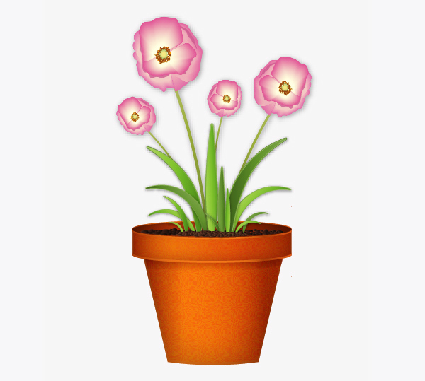 Create a flowerpot from scratch in  Adobe Illustrator 33