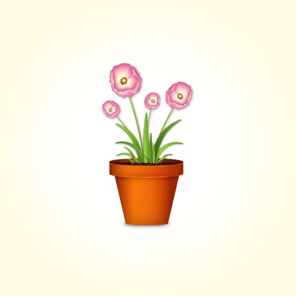 Create a flowerpot from scratch in Adobe Illustrator