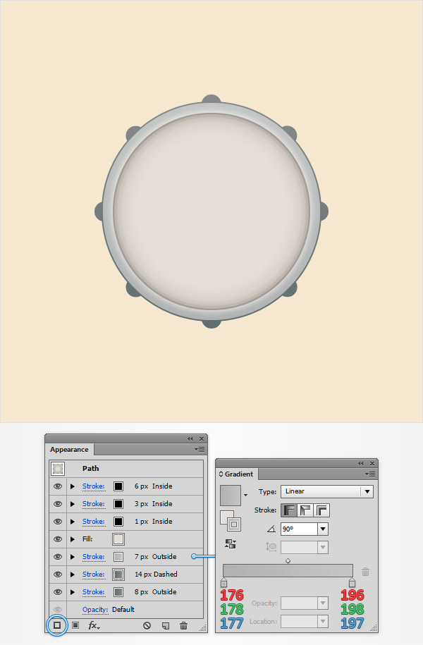 How to Create a Simple Drum Icon 10