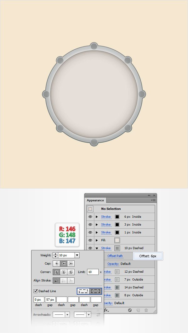 How to Create a Simple Drum Icon 12