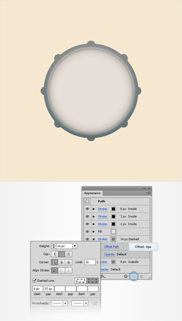 How to Create a Simple Drum Icon 9