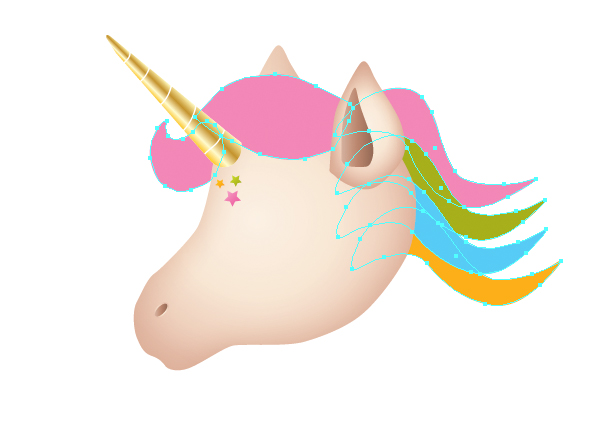 How to Draw a Unicorn Illustration in Illustrator 32